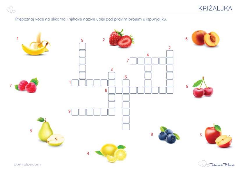 križaljka s voćem