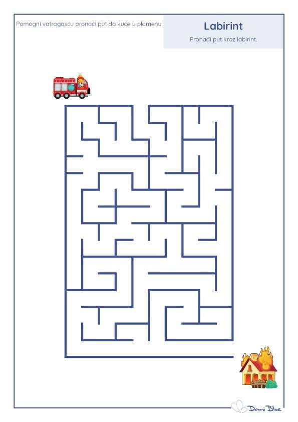 labirint s vatrogasnim kamionom