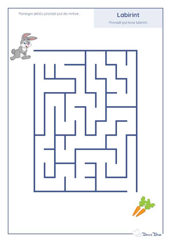 labirint sa zecom i mrkvom