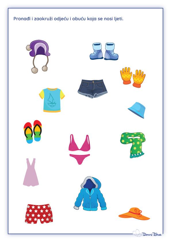 pronađi ljetnu odjeću