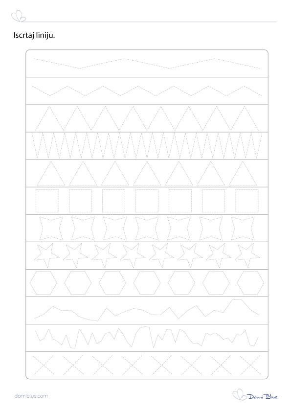 grafomotorika iscrtavanje linija