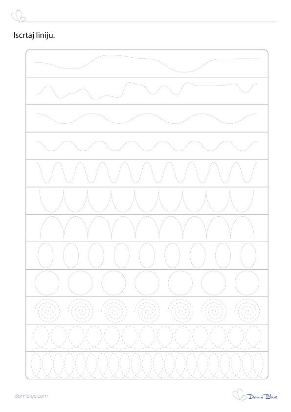 grafomotorika iscrtavanje zaobljnih linija