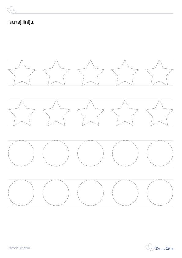 iscrtavanje linija zvijezde i krugovi